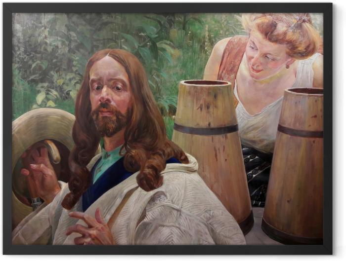 Poster en cadre Jacek Malczewski - Le Christ et la samaritaine - Reproductions