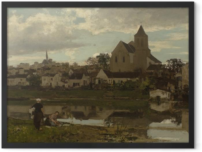 Gerahmtes Poster Jacob Maris - Blick auf Montigny - Reproductions