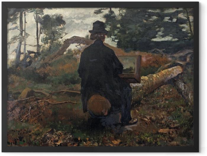 Poster en cadre Jacob Maris - Le peintre Frederik Hendrik Kaemmerer à l'oeuvre à Oosterbeek - Reproductions