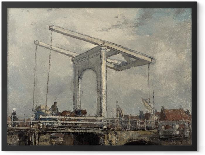 Gerahmtes Poster Jacob Maris - Zugbrücke in einer niederländischen Stadt - Reproductions