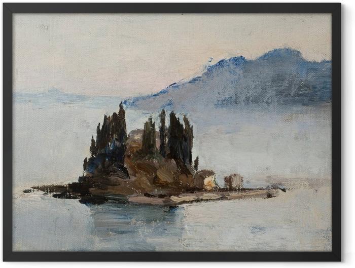 Plakat w ramie Jan Ciągliński - Corfu. Z podróży do Grecji - Reproductions
