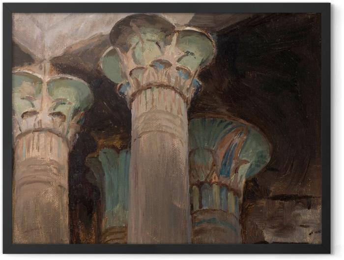 Plakat w ramie Jan Ciągliński - Kapitele w świątyni Izydy. Z podróży do Grecji - Reproductions