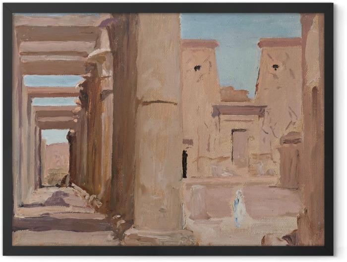 Poster en cadre Jan Ciągliński - Temple. Du voyage en Egypte. - Reproductions