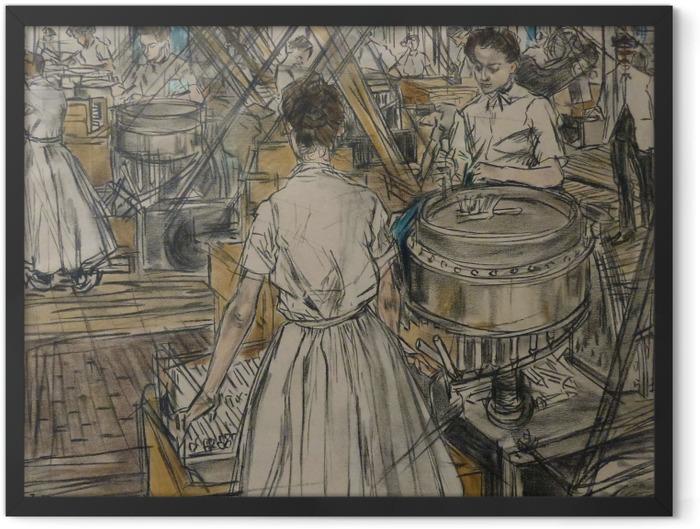 Plakat w ramie Jan Toorop - Fabryka świec w Gouda, 1 - Reproductions