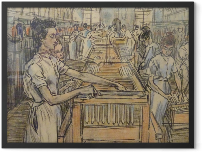Poster en cadre Jan Toorop - Fabrique de bougies à Gouda, 2 - Reproductions