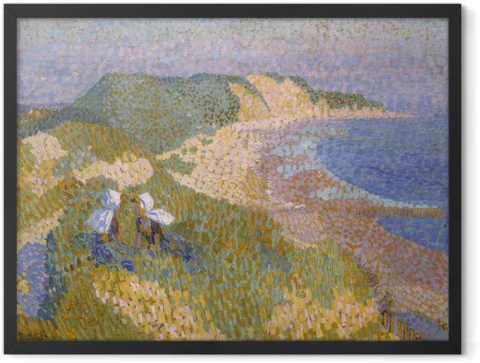 Plakat w ramie Jan Toorop - Wydmy i morze w Zoutelande - Reproductions