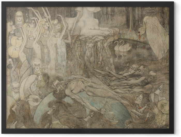 Plakat w ramie Jan Toorop - Sfinks - Reproductions