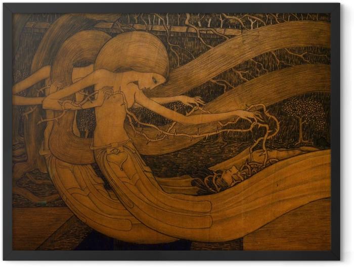 Gerahmtes Poster Jan Toorop - O Grab, ist dein Sieg? - Reproductions