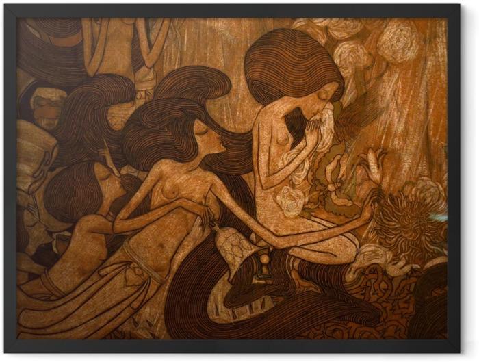 Poster en cadre Jan Toorop - Les trois mariées - Reproductions
