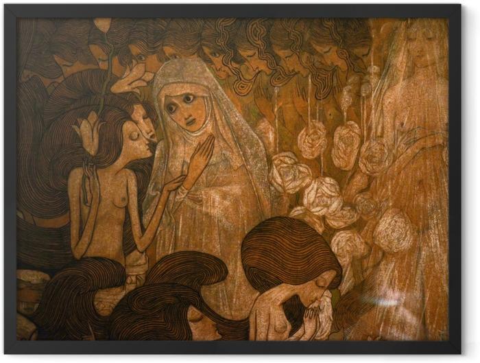 Gerahmtes Poster Jan Toorop - Die drei Bräute II - Reproductions