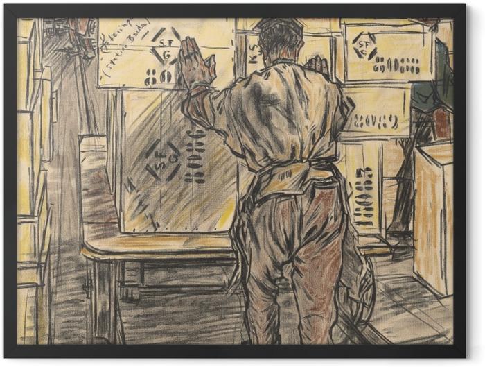 Plakat w ramie Jan Toorop - Magazyn - Fabryka świec w Gouda, 4 - Reproductions