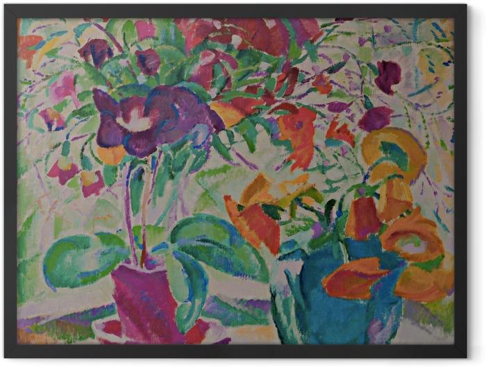 Gerahmtes Poster Leo Gestel - Blumenstrauß im Fenster - Reproductions