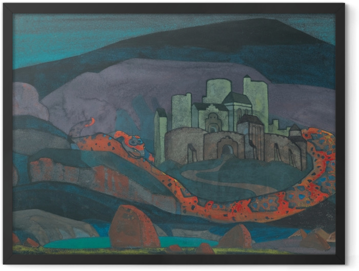 Plakat w ramie Nikołaj Roerich - Potępione miasto - Nicholas Roerich