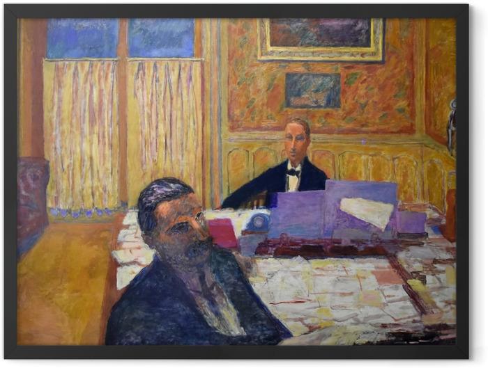 Gerahmtes Poster Pierre Bonnard - Die Brüder Bernheim-Jeune - Reproductions