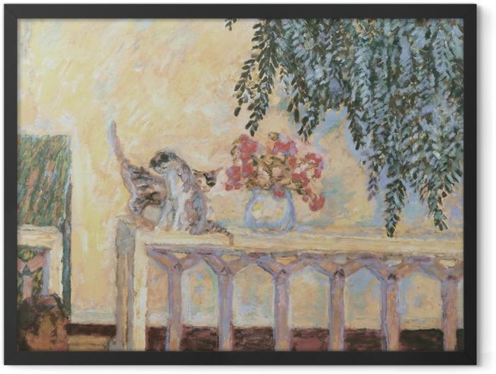 Gerahmtes Poster Pierre Bonnard - Katzen auf dem Geländer - Reproductions