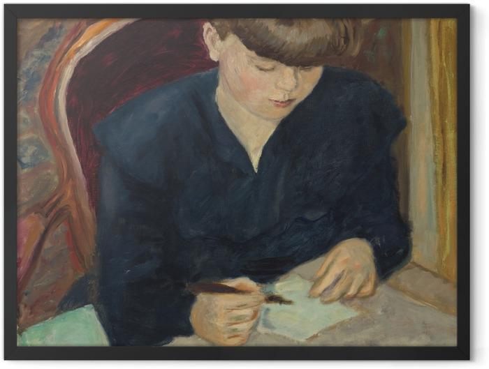 Gerahmtes Poster Pierre Bonnard - Der Brief - Reproductions