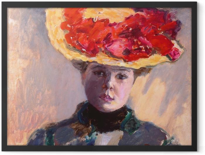 Gerahmtes Poster Pierre Bonnard - Mädchen im Strohhut - Reproductions