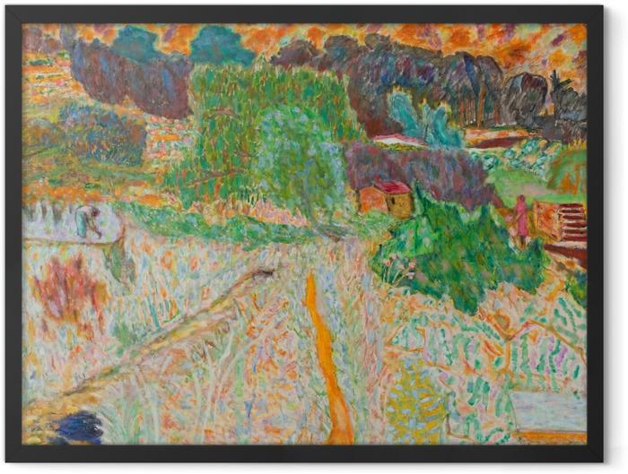 Gerahmtes Poster Pierre Bonnard - Blick vom Atelier des Künstlers - Reproductions