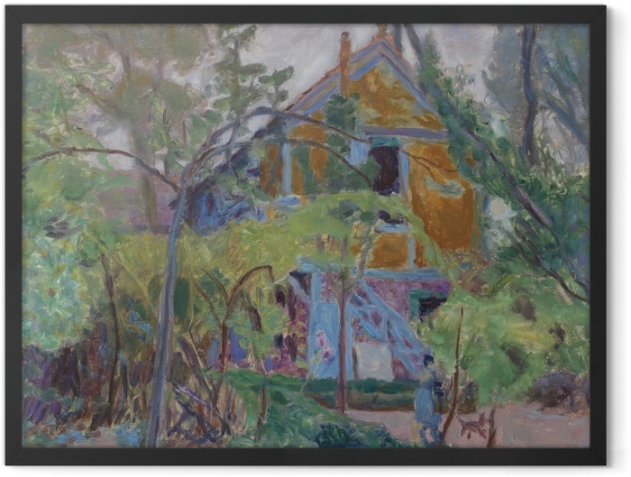 Gerahmtes Poster Pierre Bonnard - Haus unter den Bäumen - Reproductions