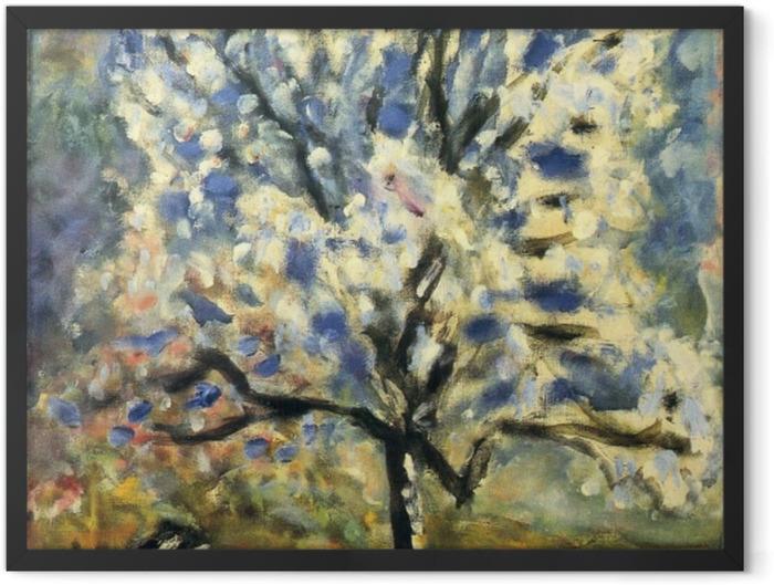 Gerahmtes Poster Pierre Bonnard - Der Mandelbaum in der Blütezeit - Reproductions