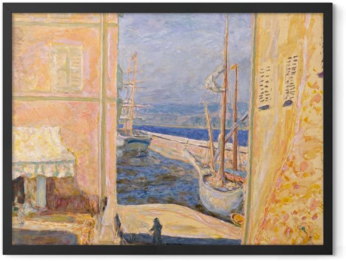 Poster en cadre Pierre Bonnard - Vue sur le Vieux Port, Saint-Tropez - Reproductions