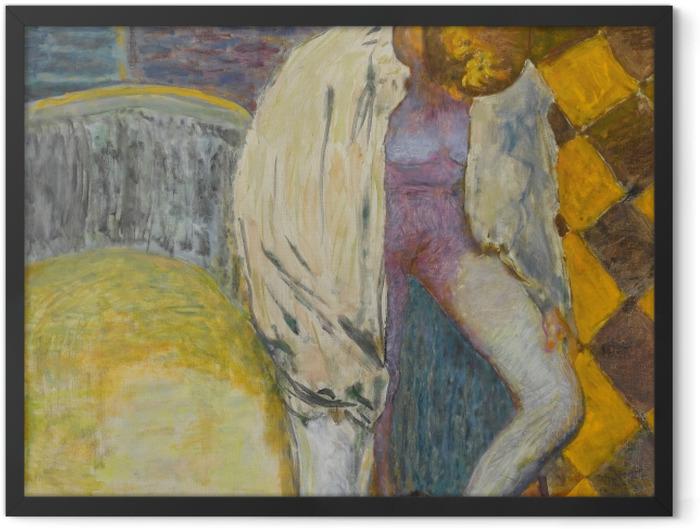 Gerahmtes Poster Pierre Bonnard - Mädchen steigt aus der Badewanne - Reproductions
