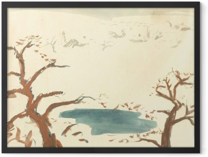 Plakat w ramie Pierre Bonnard - Pejzaż zimowy - Reproductions