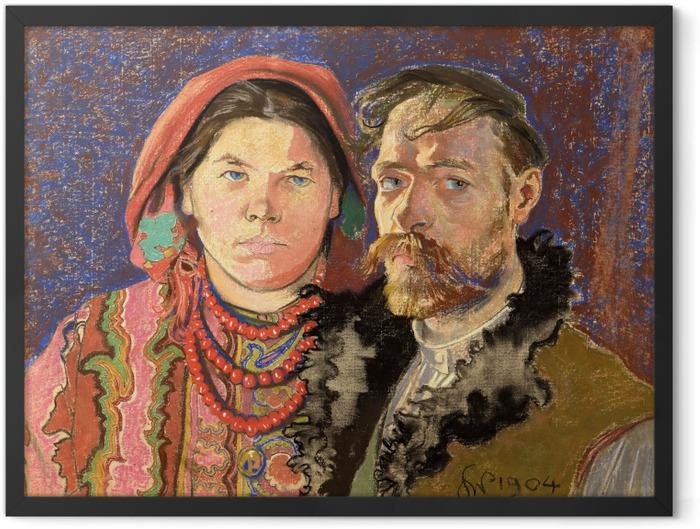 Gerahmtes Poster Stanisław Wyspiański - Porträt des Künstlers und seiner Frau - Reproductions