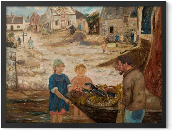 Poster en cadre Tadeusz Makowski - Retour de la pêche à l'écrevisse - Reproductions