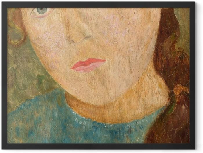 Poster en cadre Tadeusz Makowski - Fille avec une tresse rouge - Reproductions