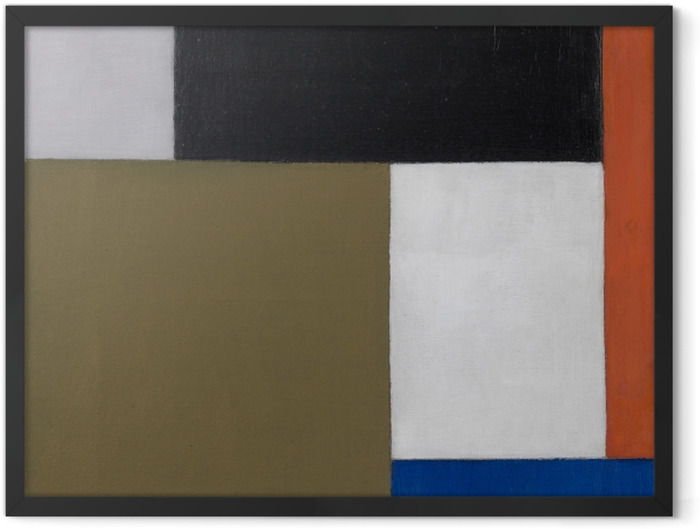 Poster en cadre Theo van Doesburg - Composition 1923-1924 - Reproductions