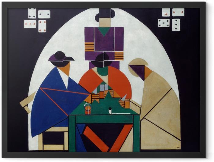 Poster en cadre Theo van Doesburg - Joueurs de cartes - Reproductions