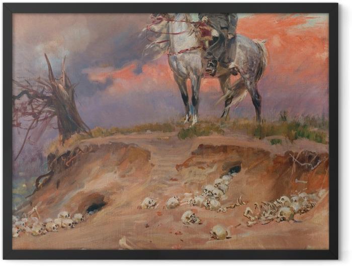 Poster en cadre Wojciech Kossak - Napoléon sur le champ de bataille - Reproductions