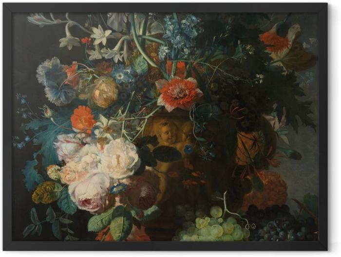 Plakat w ramie Jan van Huysum - Still life with flowers - Reprodukcje