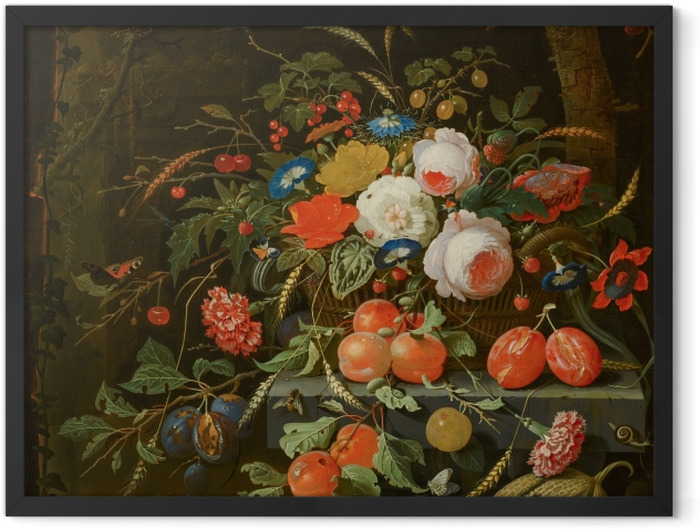 Poster en cadre Abraham Mignon - Flowers and Fruit - Reproductions