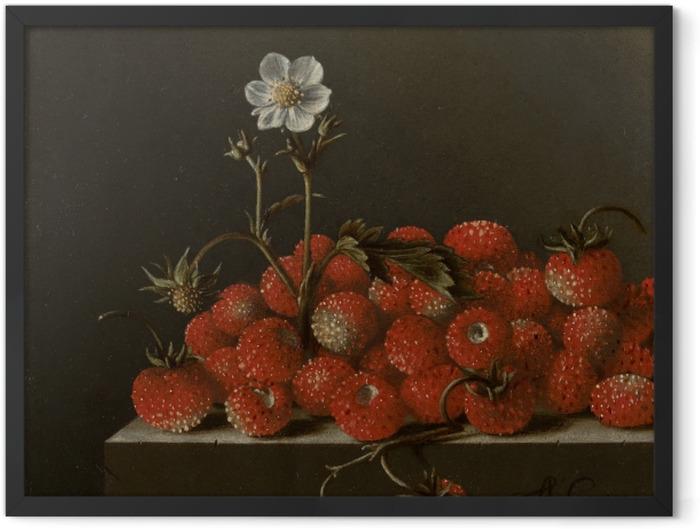 Plakat w ramie Adriaen Coorte - Still Life with Wild Strawberries - Reprodukcje