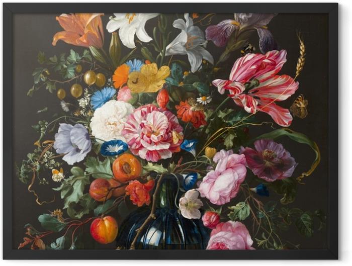 Plakat w ramie Jan Davidsz - Vase of Flowers - Reprodukcje