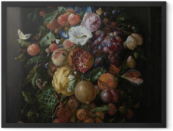 Poster en cadre Jan Davidsz - Festoon of Fruit and Flowers - Reproductions
