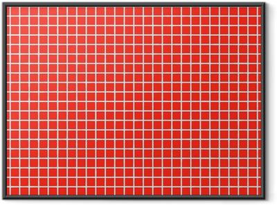 fliesen rot tile red Framed Poster