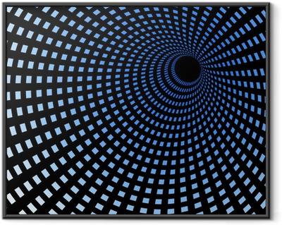 Hi-tech blue tunnel, technology wallpaper, background Framed Poster