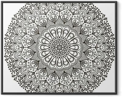 Mandala. Ethnic decorative elements. Framed Poster