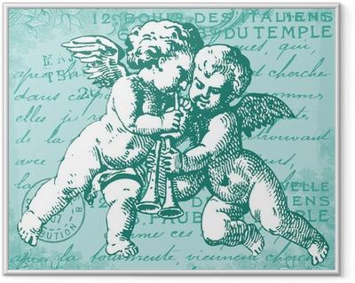 Les anges bleus Framed Poster