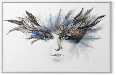 feathers around eyes (series C) Framed Poster