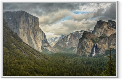 Stormy Clouds in Yosemite park Framed Picture