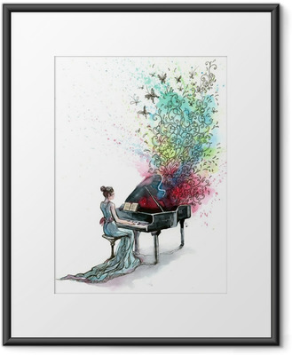 grand piano music (series C) Framed Poster