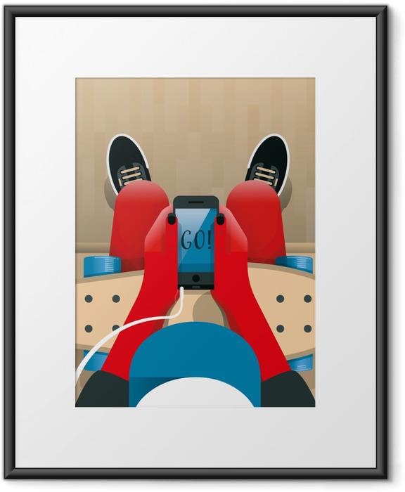 Plakat w ramie Go! - Motywacyjne