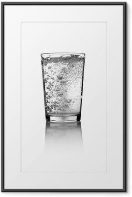 Póster Enmarcado Glass of water
