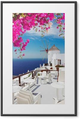 windmill of Oia, Santorini Framed Poster