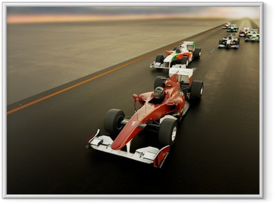 F1 Cars Framed Picture