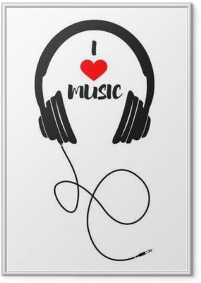 Jeg elsker musik Indrammet plakat